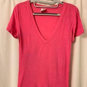 PINK / Victoria's Secret pink V-neck shirt